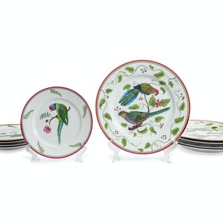 A Lynn Chase Porcelain Partial Dinner Service