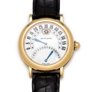 Gerald Genta, 18K Yellow Gold Ref. G.3734 'Biretro' Wristwatch