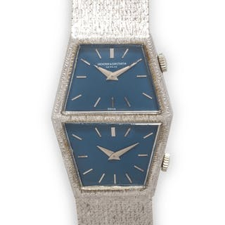 Vacheron Constantin, 18K White Gold Ref. 7336 Dual Time Wristwatch,  Circa 1977