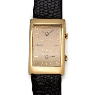 Chopard, 18K Yellow Gold Dual Time Wristwatch