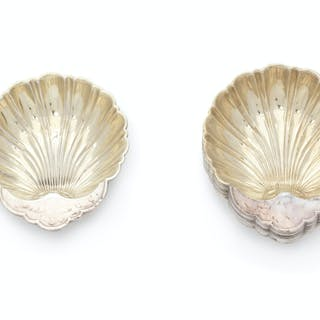 A Set of Twelve American Silver Shell-Form Nut Dishes