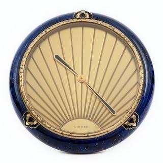 A Cartier Art Deco Style Desk Clock