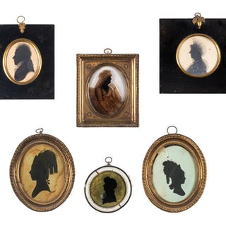 Seven Framed Silhouettes