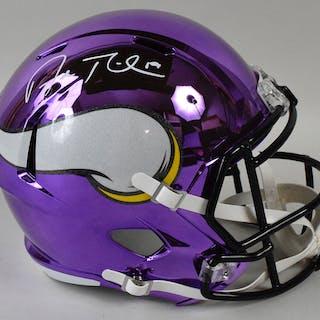 3bc199ff641 Adam Thielen autographed Minnesota Vikings full size Chrome helmet –  Current sales – Barnebys.com