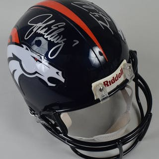John Elway and Tim Tebow autographed Denver Broncos full size helmet –  Current sales – Barnebys.com 99d5399b2