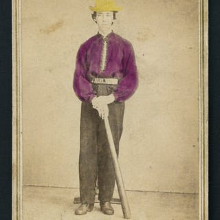 Identified Baseball Player Carte De Visite C1860s 70s Current Sales Barnebys