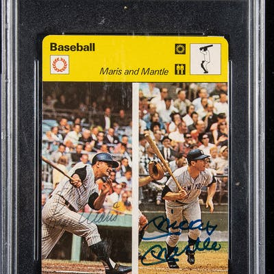 Rare Mickey Mantle And Roger Maris Autographed 1977 79 Sportscaster