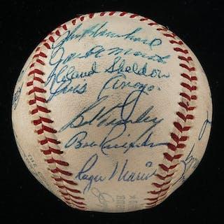 2155a4bdd82 1961 New York Yankees team autographed baseball (World Champions)