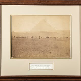 "1889 Spalding World Tour ""Game at the Pyramids"" photograph"