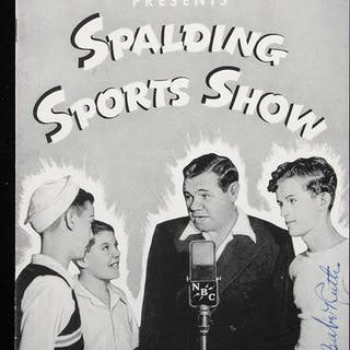 """Babe Ruth autographed """"Spalding Sports Show"""" magazine"""