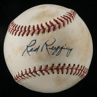 Red Ruffing single signed baseball
