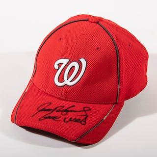 """Ivan """"Pudge"""" Rodriguez autographed Washington Nationals..."""