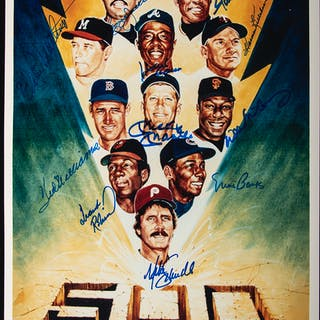 500 Home Run Club autographed photograph