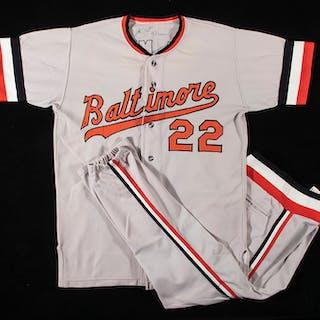 1972 Jim Palmer autographed Baltimore Orioles...