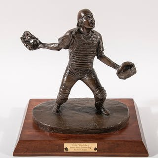 Johnny Bench bronze sculpture by Bob Scriver c.1980