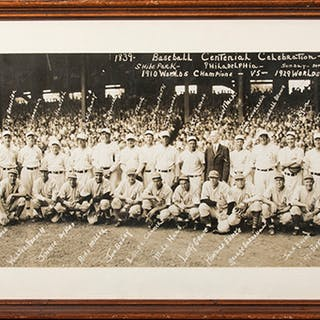 "Philadelphia Athletics 1939 ""Centennial Celebration"" panoramic photograph"