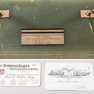 Ford Frick 1965 Baseball Writers presentational pen set...