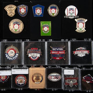 1982-2017 Baseball Hall of Fame press pins complete set...