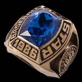 1986 All-Star Game ring presented to Chub Feeney
