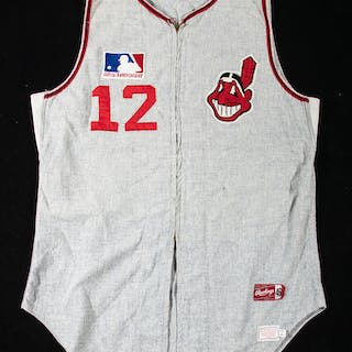 1969 Luke Easter Cleveland Indians professional model road Coaches jersey