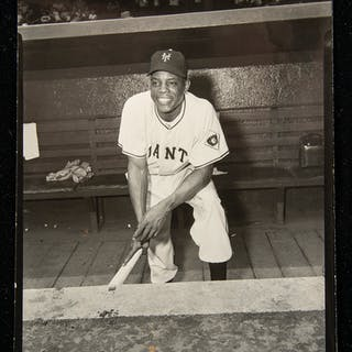 Willie Mays contact proof photograph by William...