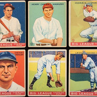 1933 Goudey Washington Senators lot of (16) cards