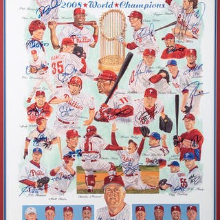 2008 Philadelphia Phillies team signed limited edition print