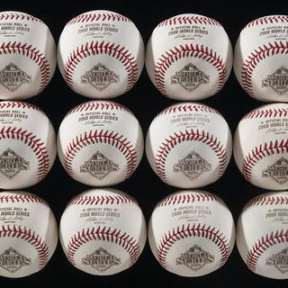 Lot of (12) 2008 World Series baseballs