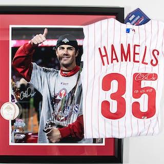 Cole Hamels autographed Philadelphia Phillies replica jersey