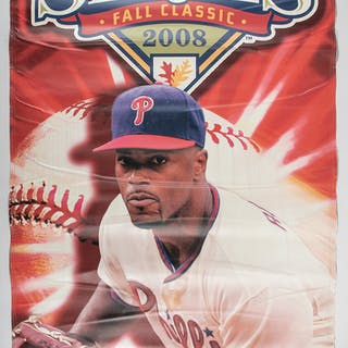 2008 Jimmy Rollins World Series banner