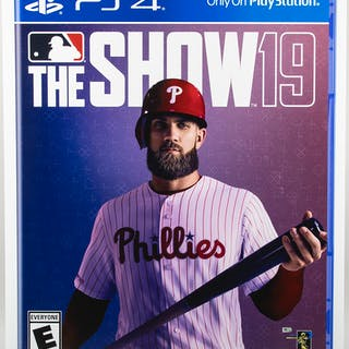 "Bryce Harper MLB ""The Show 2019"" promotional display sign from March 2"
