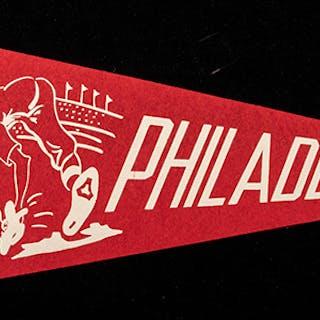 Philadelphia Phillies souvenir pennant c.1940-50s