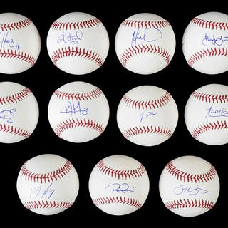 Lot of (11) 2019 Philadelphia Phillies single signed baseballs