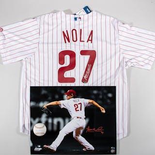 Aaron Nola autographed Philadelphia Phillies replica home jersey