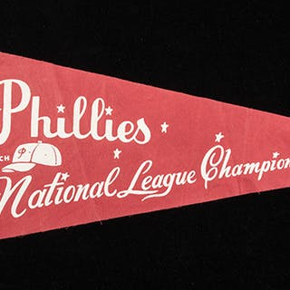 "Rare 1964 Philadelphia Phillies ""National League Champions"" phantom pennant"