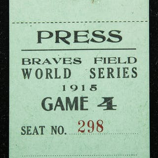 1915 World Series Game (4) press pass