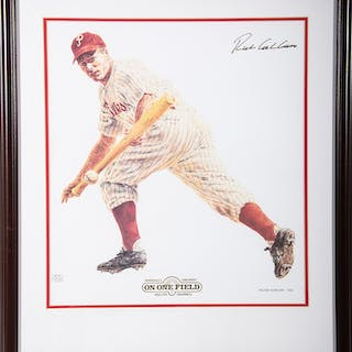Richie Ashburn autographed limited edition print