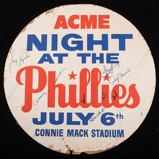 "Connie Mack Stadium ""Acme Night"" advertising display c.1960s"