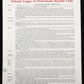 1965 Johnny Callison Philadelphia Phillies contract