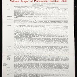 1965 Johnny Callison Philadelphia Phillies contract