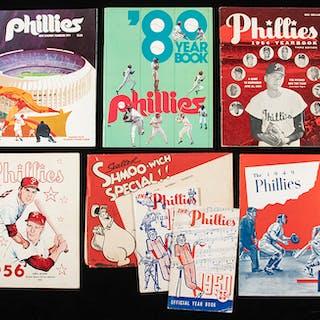 1949-1989 Philadelphia Phillies yearbooks (49 total)