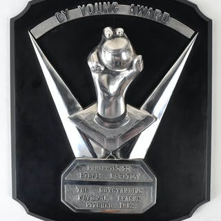 Important 1982 Steve Carlton Cy Young Award