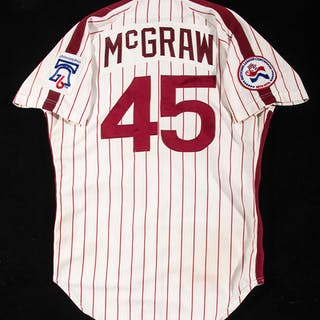 1976 Tug McGraw Philadelphia Phillies professional model home jersey
