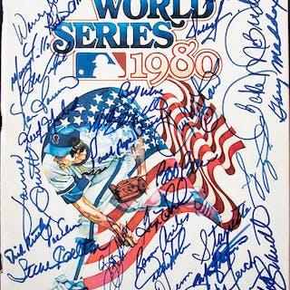 1980 Philadelphia Phillies team signed World Series program