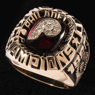Very rare 1980 Philadelphia Phillies World Series ring as...