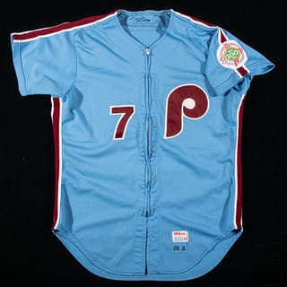 1983 Bobby Wine Philadelphia Phillies professional model road jersey