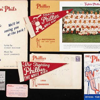 1950 Philadelphia Phillies related pieces (7)