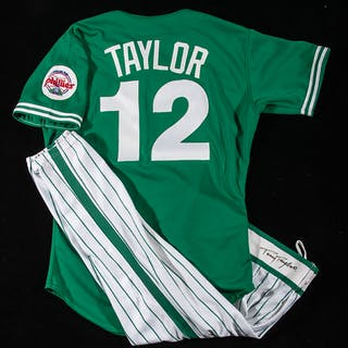 1989 Tony Taylor autographed Philadelphia Phillies professional model St