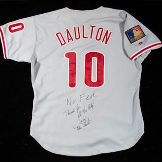 1994 Darren Daulton autographed Philadelphia Phillies...