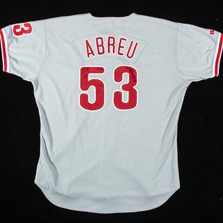Bobby Abreu Philadelphia Phillies professional model road jersey c.2000s